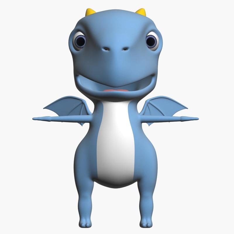 baby dragon 3d max