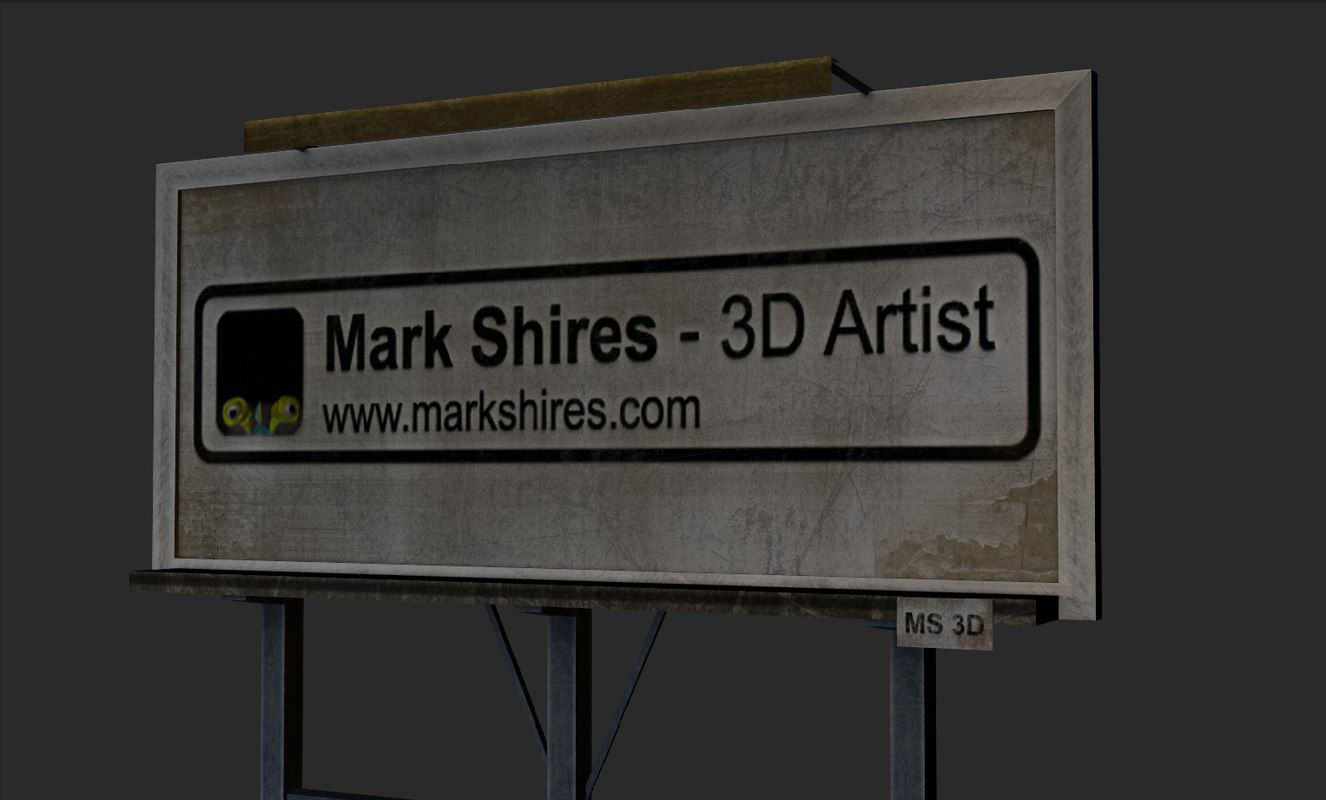 3d advertisement billboard model