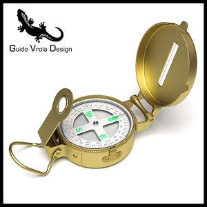 professional brass compass 3ds
