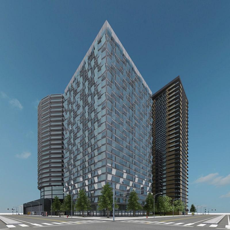 new city block 10 3d model