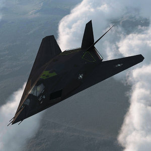 realistic f 117 nighthawk 3d model