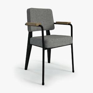 jean prouvé 352 armchair 3d max