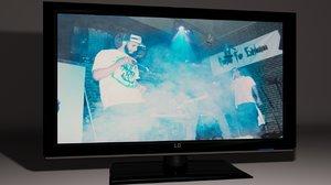 flat screen tv 3d max