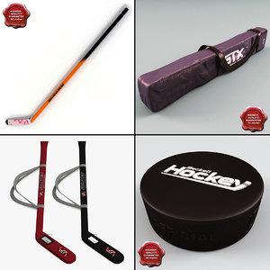 3d hockey stick v4 model