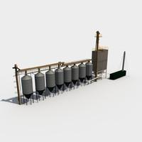 industrial equipment 3d dxf