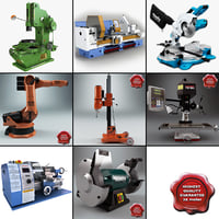 3d industrial machines v4 model