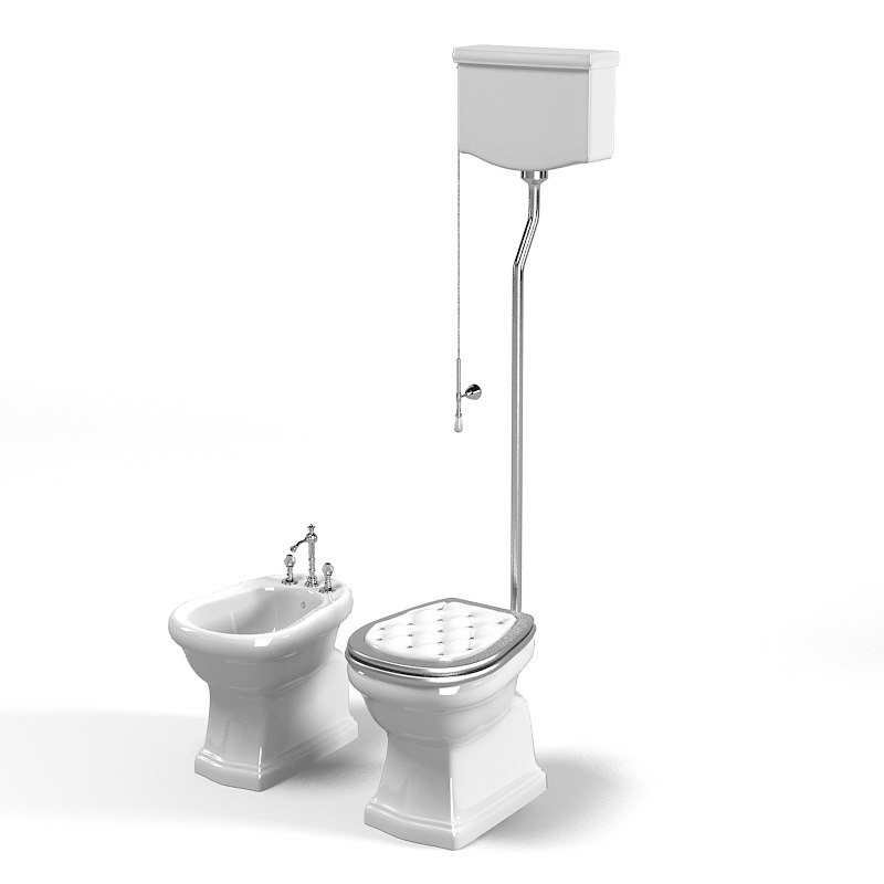 Lineatre Classic High Level Toilet 21304 And Bidet