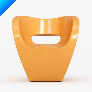 little albert armchair ron arad 3d max