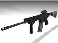 m4 assault rifle 3d model