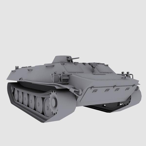 3d mt russian armored transport model