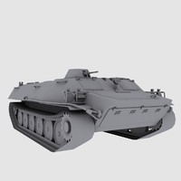 MT-LB Russian Army Armored Transport Tug Game Model