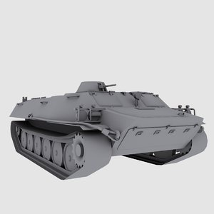 3d mt russian armored transport model
