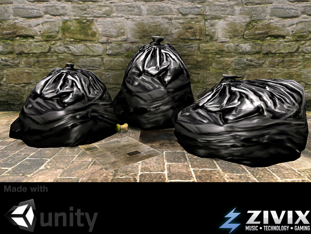 3ds max ready garbage bags gaming