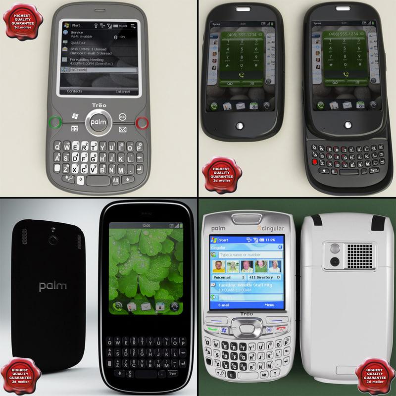 3d model palm phones v1
