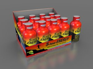 5 hour energy caddy 3d model