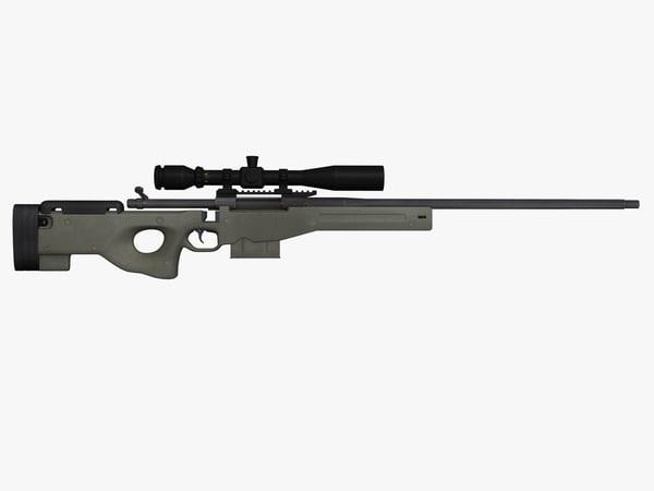 remington sniper rifle 3d 3ds