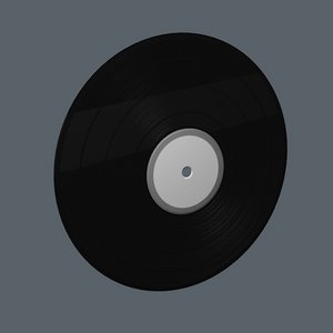 3d model vinyl record