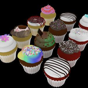 cinema4d dozen cupcakes