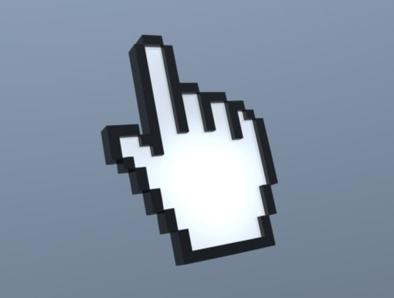 3d model mouse pointer icon
