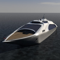 super yacht large c4d