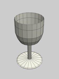 glass goblet 3d model
