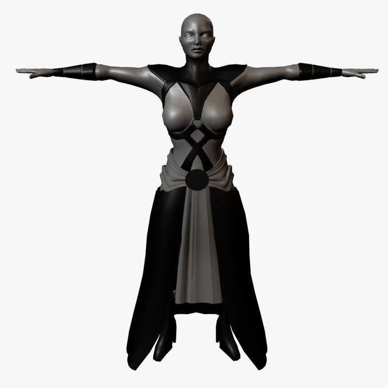female asajj ventress 3d model