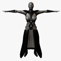 3d female asajj ventress