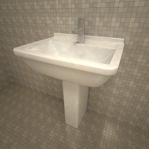 duravit starck3 washbasin 3d 3ds