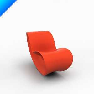 3d voido rocking chair ron arad model