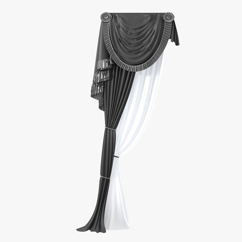 classic curtain luxury 3d model