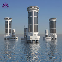 3ds modern industrial sea tower