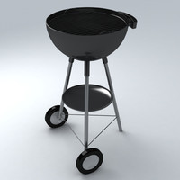3d barbecue exterior model