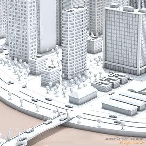 city river 3d max