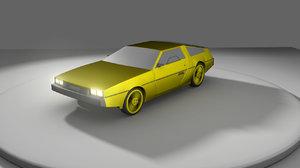 3d 1981 delorean model