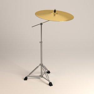 3d cymbal crash
