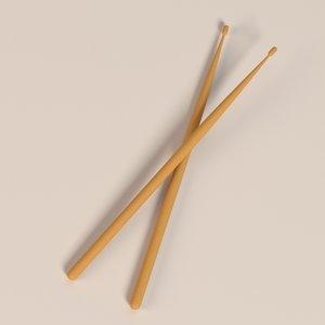 drum stick 3d blend