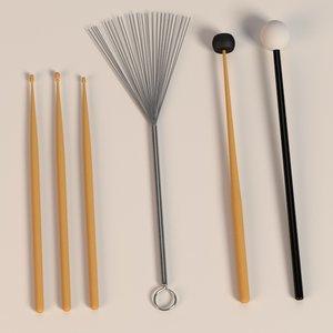 3d drum sticks