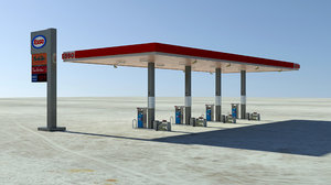 hirez gas station 3d model
