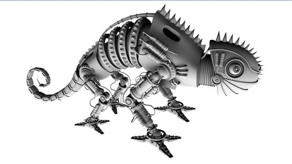3d model of robot chameleon
