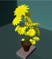 maya flower pot