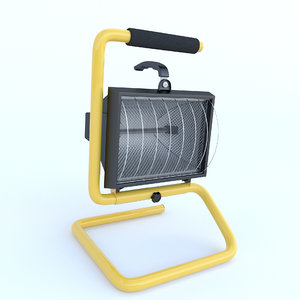 halogen projector 3d model