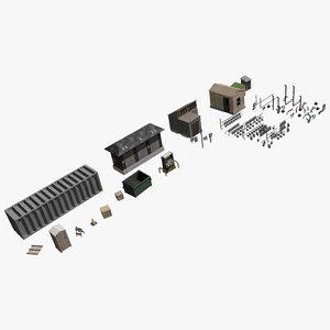 industrial elements utilities 3ds