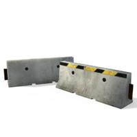 3d k rails jersey barriers model