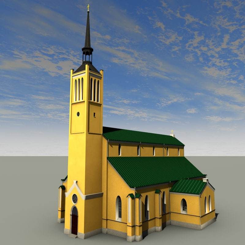 3d model jaani church building