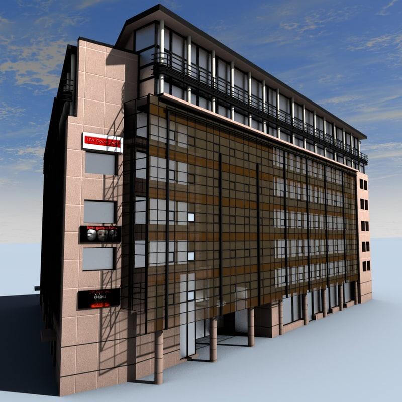office building 3d c4d