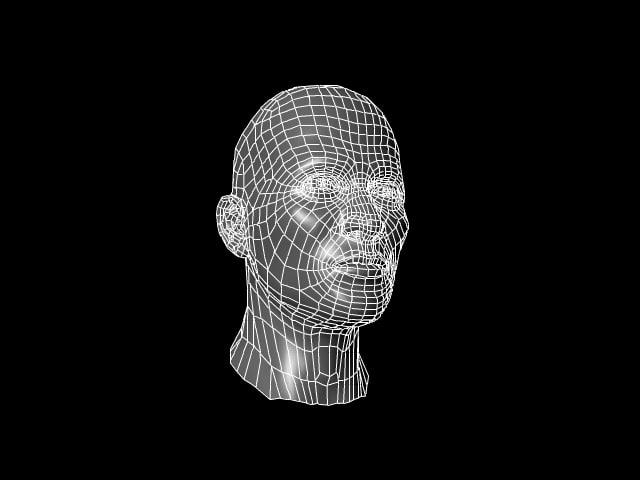 realistic human head male 3d obj