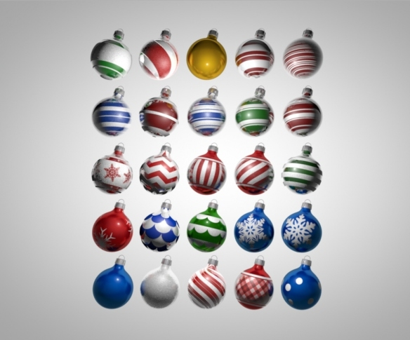 c4d christmas ornament pack