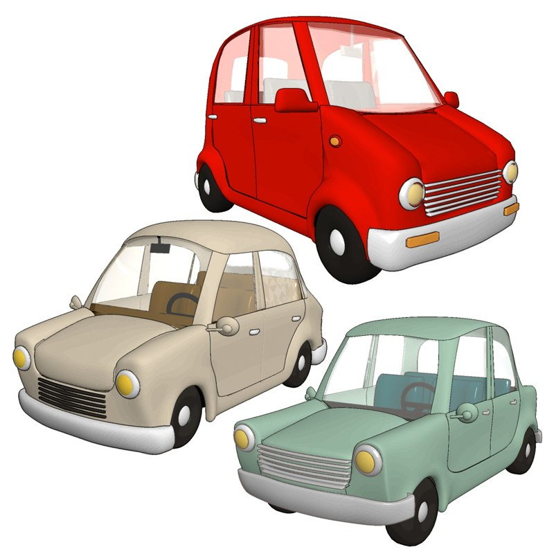 3ds max cartoon cars