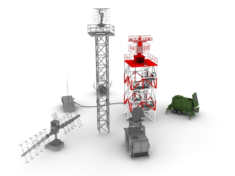 radar military airports 3d max
