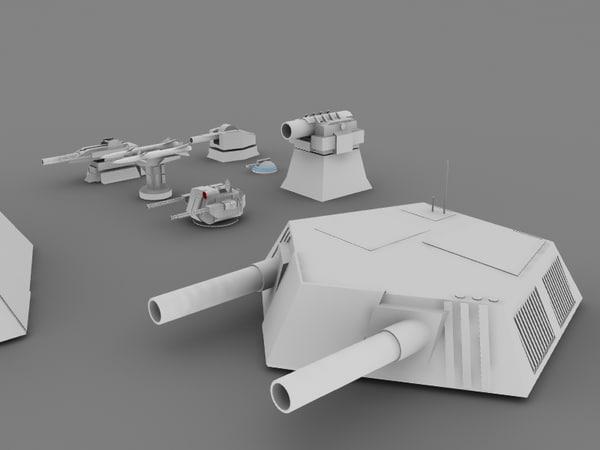 max sci fi turrets